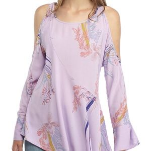 NWT Free People Clear Skies Cold Shoulder Tunic